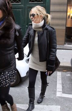Starting to feel chilly out there-- perfect outfit to stay chic and warm.