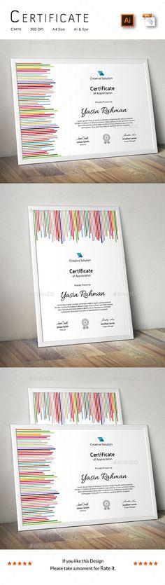 23 Best Certificate Template Design Images On Pinterest