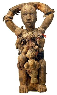 Africa | Ewe Fetish, Ghana | The Ewe fetishes, which acquire power through consecration and the addition of special substances, serve to protect their owners from misfortune, disease or evil spirits.