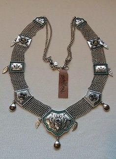 "Lucky Brand-Major ""BALI"" Statement Necklace. Silvertone metal. NWT."