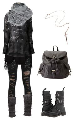 """""""Strega punk"""" by shortcuttothestars ❤ liked on Polyvore featuring Anna Field, UNIF, Avant Toi, A Postcard From Brighton, Dr. Martens, Charlotte Russe and Rachel Roy"""