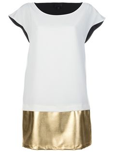 Hotel Particulier Metallic Shift Dress