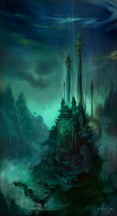 Abandoned Dark Elven castle in the Isles of Nightfall