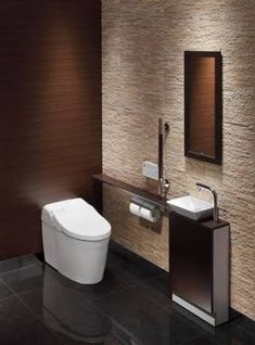 トイレ 内装 - Google 検索 Pool House Bathroom, Corner Sink Bathroom, Bathroom Layout, Bathroom Interior, Guest Toilet, Downstairs Toilet, Bad Inspiration, Bathroom Inspiration, Toilet Room Decor