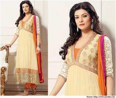 Sushmita Sen in Charismatic Anarkali Dresses   Bollywood Dresses Suits