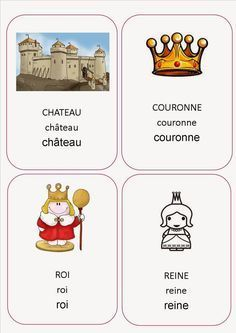 Chateau Moyen Age, Gs World, World Thinking Day, Queen Of Spades, Teaching French, Prince And Princess, Ice Queen, Teaching Tools, Nursery Rhymes
