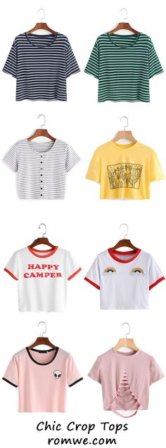 Summer Chic - Crop Tops with special design and reasonable price from romwe.com