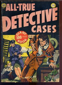 All-True Detective Cases Pulp Fiction Art, Pulp Art, Pulp Magazine, Book And Magazine, Crime Comics, Rare Comic Books, Vampire Bites, Comic Book Collection, True Detective