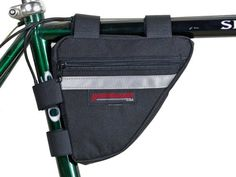 Bike Seat Packs - Bushwhacker Ketchum Black  Bicycle Frame Bag Cycling Triangle Pack Bike Under Seat Top Tube Bag  w Reflective Trim ** Learn more by visiting the image link.