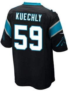 The men's Nike NFL Game jersey will be the only one you choose to wear while you cheer on your Carolina Panthers. The jersey is inspired by what Luke Kuechly wears on the field and designed for movement and a light soft feel. V-neckline with TPU shield at collar Pullover style Short sleeves Screen print graphics Woven jock tag at hem Tailored fit Officially licensed NFL product Nike on-field apparel Polyester Machine washable