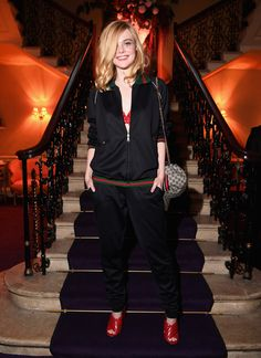 LONDON, ENGLAND - JUNE 02: Elle Fanning attends the Gucci party at 106 Piccadilly in celebration of the Gucci Cruise 2017 fashion show on June 2, 2016 in London, England. (Photo by Venturelli/Getty Images for GUCCI) *** Local Caption *** Elle Fanning
