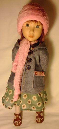 Coat hat and scarf set for A Girl for all time by Gwendollys