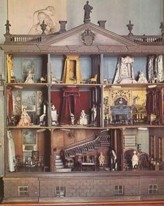 Nostell Priory dolls house an Antique pice in England. Some of the furniture was made by Thomas Chippendale.