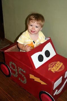 Greene Acres Hobby Farm: Lightning McQueen Cardboard Car Tutorial
