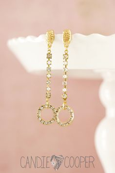 DIY Jewelry how to make these crystal cup-chain earrings in minutes from Candie Cooper