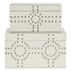 Bodega Storage Boxes Set of 2 - Sand | Decorative Accessories | Accessories | Decor | Z Gallerie, $69.95