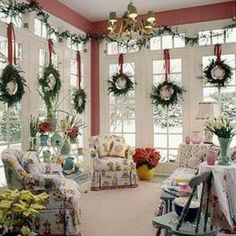 Christmas Wreath Window Farmhouse | Window wreaths