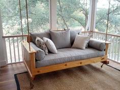 Charming Porch Swing Idea 55