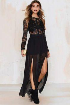Applique Mystique Lace Dress - Midi + Maxi