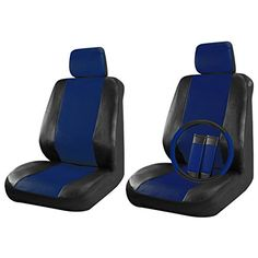 BLUE Front /& Back SPLIT Bench SEAT COVERS 9pc SET for JEEP PATRIOT