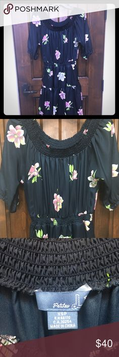 Anthropologie dress NWOT Floral black floral Anthropologie dress NWOT. Cute front pockets. Anthropologie Dresses