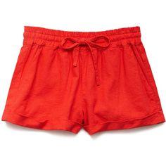 FOREVER 21 Drawstring Linen-Blend Shorts ($8.80) ❤ liked on Polyvore featuring shorts, forever 21, forever 21 shorts, linen blend shorts, draw string shorts and drawstring shorts