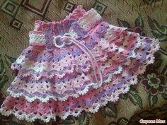 Gilet Crochet, Knit Crochet, Crochet Skirts, Crochet Baby Clothes, Crochet For Kids, Cool Baby Stuff, Crochet Designs, Bra Tops, Baby Dress