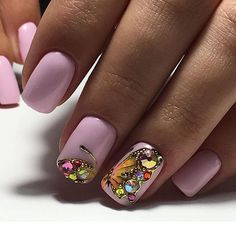 Bejeweled butterfly nail art