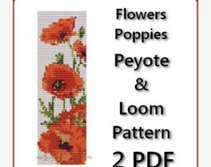 beaded poppy pattern on Etsy, a global handmade and vintage marketplace.