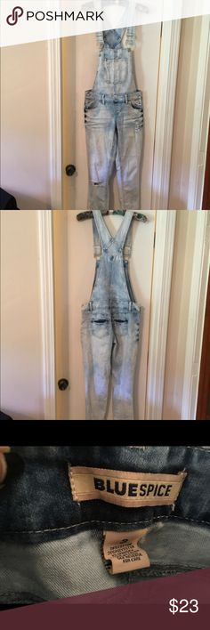 Light denim overalls Cute adjustable light denim overalls blue spice Jeans Overalls