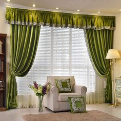New arrival Twynam Blue and Green Pencil Pleated Valance and Sheers Custom Made Chenille Velvet Curtains Pair - - Custom Curtains Drapes Draperies Sheers Rods and Tracks Home Curtains, Velvet Curtains, Custom Curtains, Sheer Curtains, Valance Curtains, Emerald Green Curtains, Waterfall Valance, Pencil Pleat, Plants