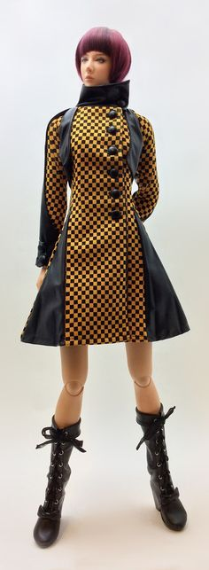 Lily Coat '' Yellow Checker '' (OS-161) OUGI SAIGON order-made studio for 1/3 scale Doll