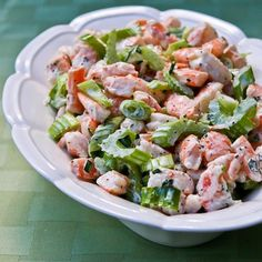 Kalyn's Kitchen®: Recipe for Tarragon Shrimp Salad with Celery, Green Onion, and Celery Seed   (#SouthBeachDiet Phase One from Kalyn's Kitchen)