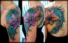 a5369185a618f Best 99+ Amazing Feather Tattoos You Need on Your Body! Purple Heart Tattoos ,