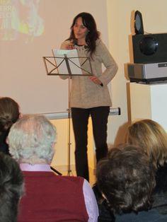Actress Francesca Tranfo reading parts of book