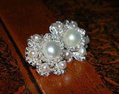 Bridal crochet earrings bridal pearl earrings by BohemianPleasures, $37.00