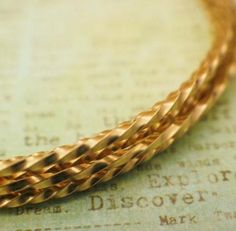 Wire - 14kt Gold Filled - Twisted 14kt Yellow Gold Filled Wire - Half Hard - 1/4 Troy Ounce - YOU Pick The Gauge 12 To 28