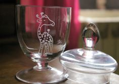 Artisanal, Fountain, Wine Glass, Barware, Tableware, Custom Glass, Glass Etching, Handmade, Dinnerware