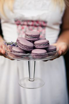 french macarons at picnic themed wedding