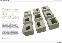 concrete bench/planters, custom molded
