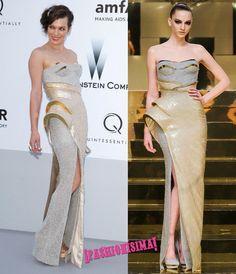 Milla Jovovich de Versace Alta Costura Primavera/Verano 2012: Estructura!
