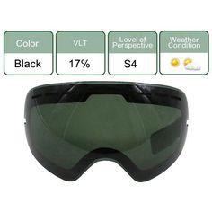 UV400 Anti-fog Skiing Goggles Lens Glasses Weak Light Cloudy Brightening Lens For S-3100/GOG-201/HB3/L900 (Only Lens)