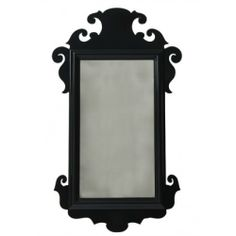 A traditional chippendale mirror with a chic, Charleston twist offers a bold new look to an otherwise traditional setting.All Oomph pieces are hand built in the Black Mirror, Handmade Home Decor, Luxury Home Decor, European Home Decor, Mirror, Home Decor Accessories, White Home Decor, Large Vintage Mirror, Home Decor