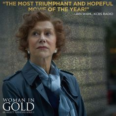 """""""The most triumphant and hopeful movie of the year!"""" - Catch #WomanInGold in select theaters April 1"""