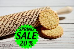 SPRING SALE - Personalized rolling pin, laser engraved rolling pin, Made by... personalized gift by AgnesWorld on Etsy