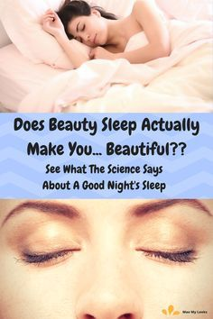 The science of sleep says there are real benefits in getting enough hours of rest each night. If you have trouble falling asleep or don't get much shuteye see how beauty sleep can help you look better according to Swedish researchers in this sleep experiment. via @maxmylooks