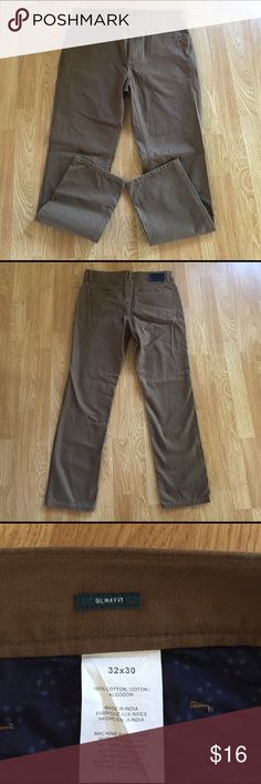 Perry Ellis Men's Brown Slacks NWOT Brand new men's pants, mocha brown color. Slim fit. 32x30 Perry Ellis Pants Chinos & Khakis