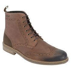 6de7e4d95829 Barbour Belsay Leather Brogue Boots