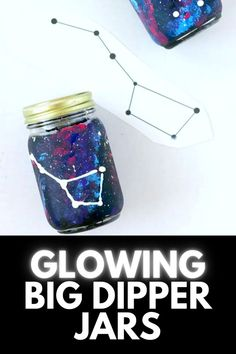 If you have a space-obsessed kid, this AMAZING Glow in The Dark Constellation Jar is an excellent learning experience and fun craft depicting the big dipper! Get the full tutorial at MomDot.com!