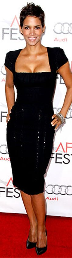 Halle Berry in Elie Saab dress